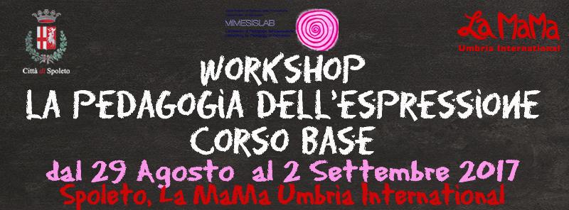 Workshop Pedagogia dell'Espressione - Corso Base
